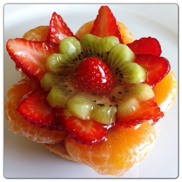Crostata Pattìni alla frutta con crema pasticcera