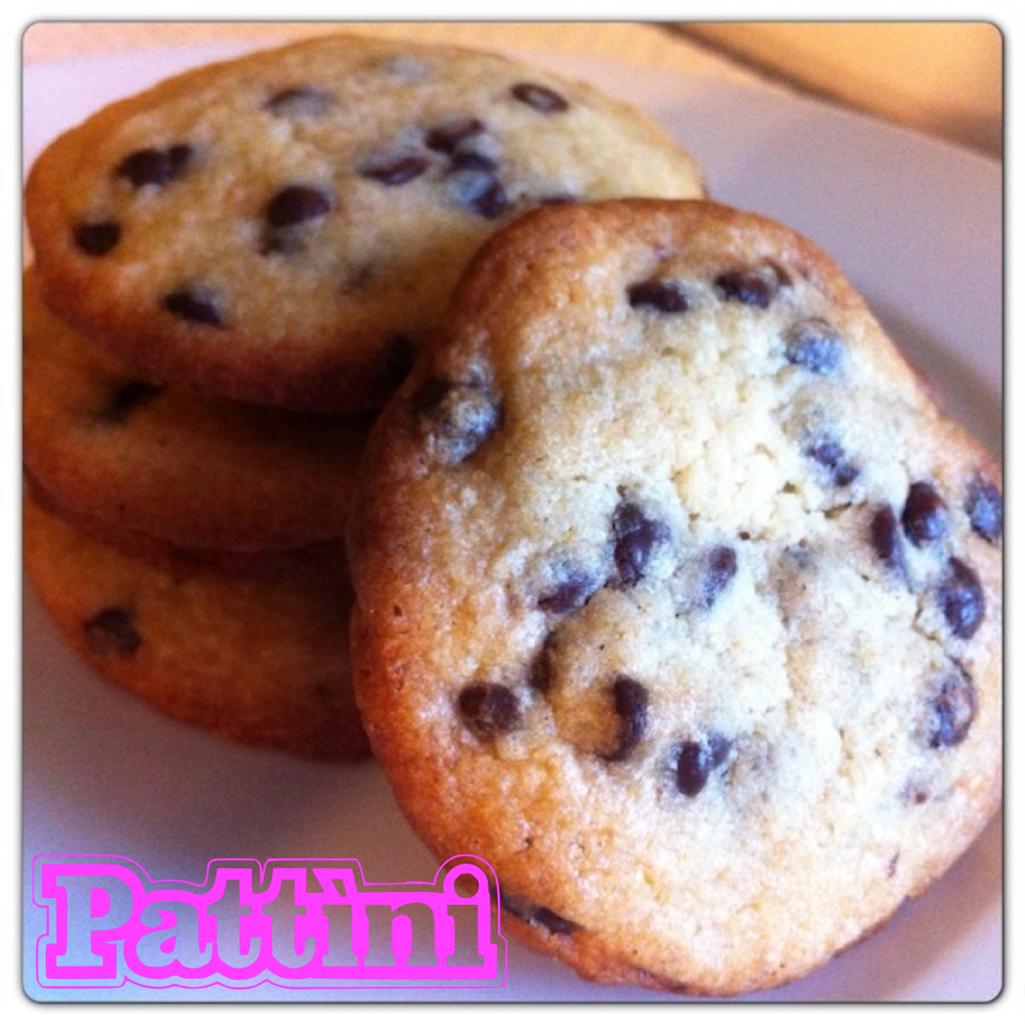 Chocolate Chip Cookies ricetta per merenda Pattìni