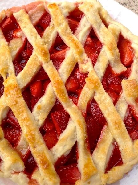 Torta alle fragole con pasta frolla Pattìni