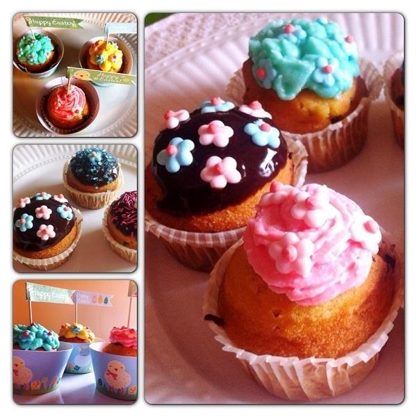 Ricetta Muffin Pattìni con gocce di cioccolato e decorazioni di Pasqua