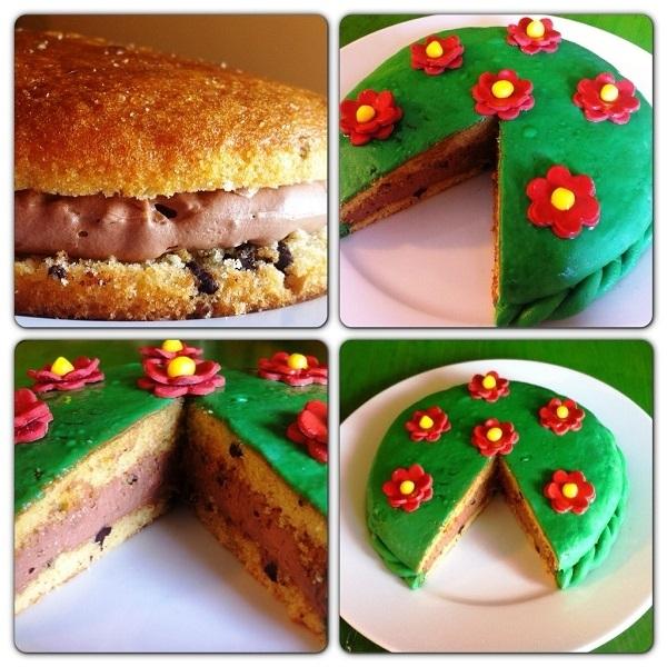 Cake design con torta Pattìni e crema alla nutella