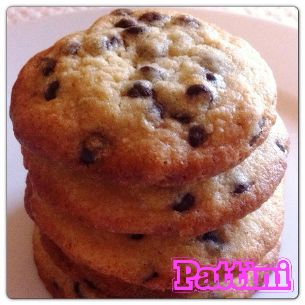 Ricetta biscotti Pattìni con gocce di cioccolato