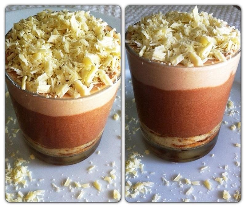 Dolci al cucchiao con crema al cioccolato e merendine Pattìni