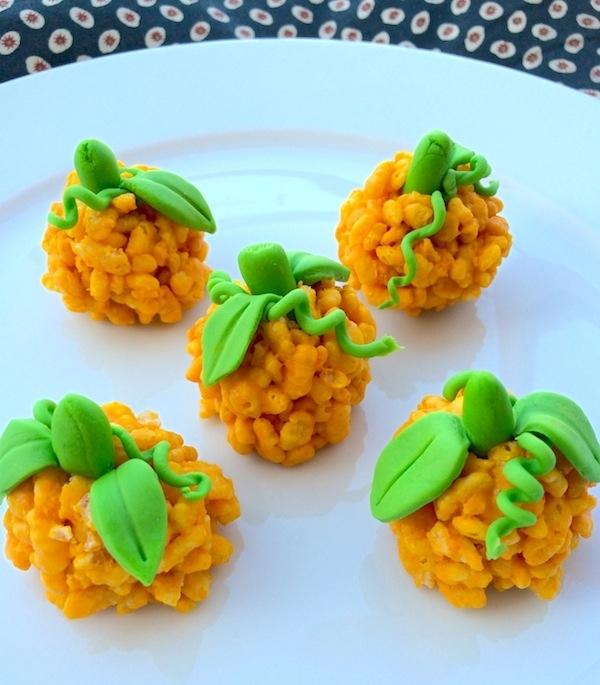 Zucche di riso soffiato e cioccolato per un dolce Halloween - Pattini
