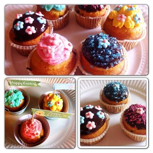 Muffin Pattìni con gocce di cioccolato e glassa decorata