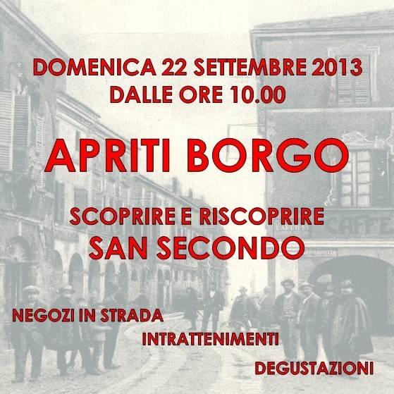 """""""Apriti Borgo"""": l'occasione per stare insieme!"""