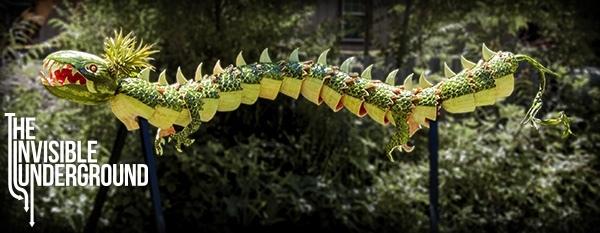 """Facce vegetali e draghi di frutta: l""""arte di Shawn Feeney"""