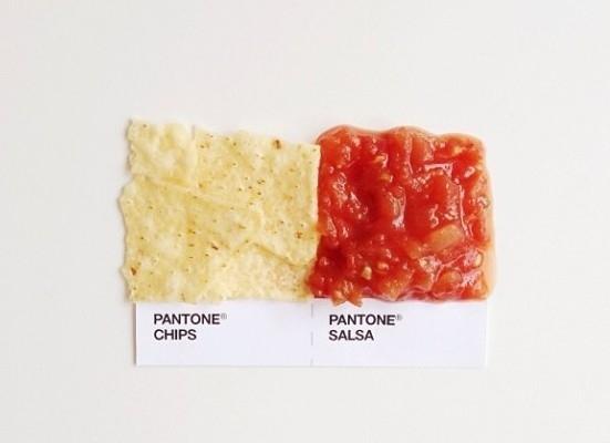Pantone food: cibo abbinato e…quadrato!
