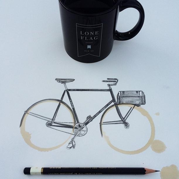 I disegni nella macchia del caffè