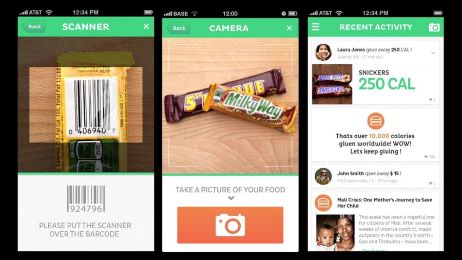 Le tue calorie in più? Donale con una app!