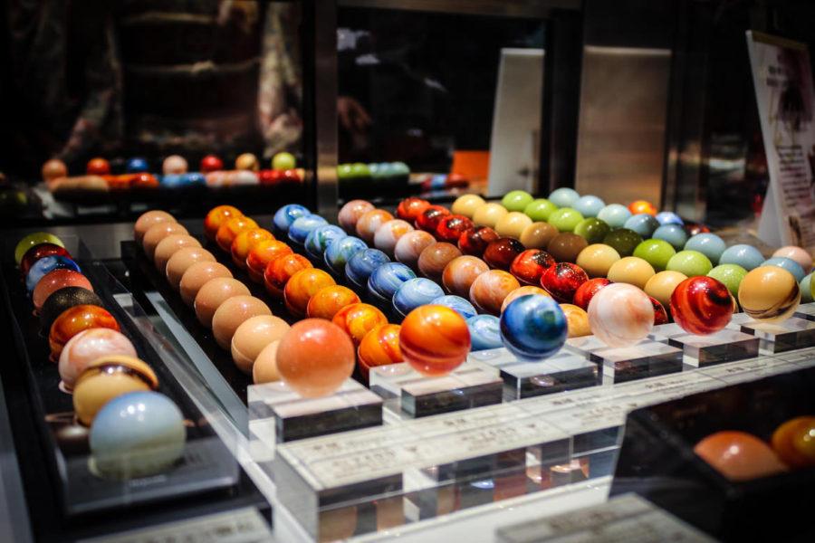 I pianeti di cioccolato provenienti dal Giappone