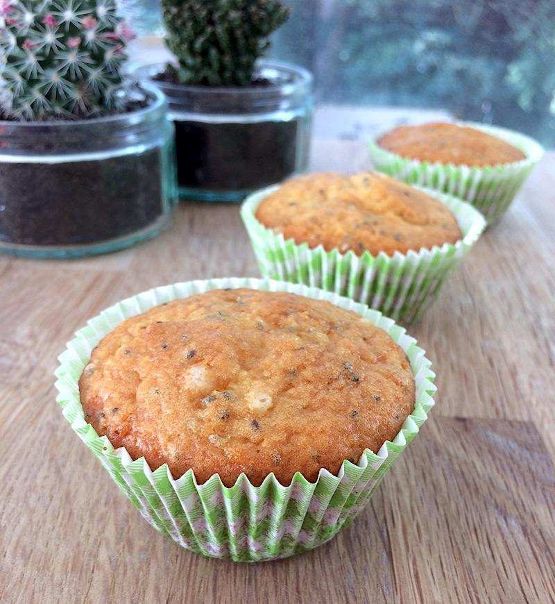 Ricetta dolce per l'estate: muffin al limone con semi di chia
