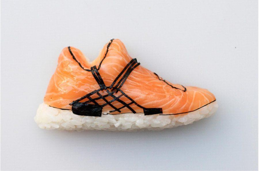 Le scarpe fatte col sushi