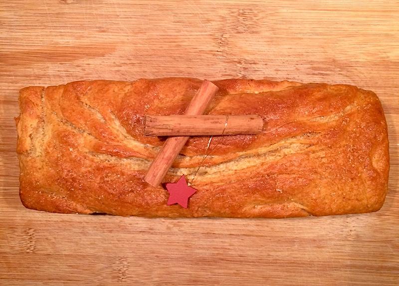 Pane dolce alla cannella per Natale