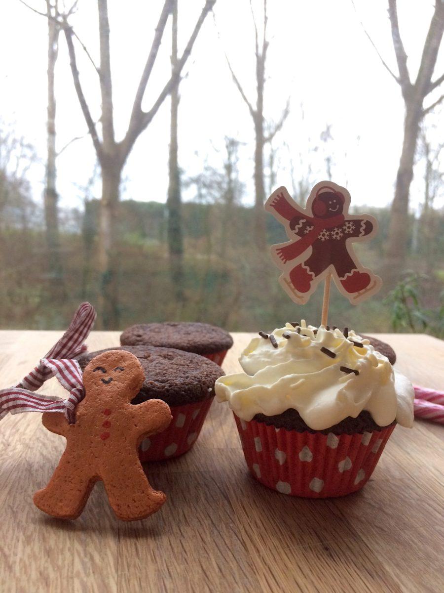 Ricetta cupcake al cacao per Natale