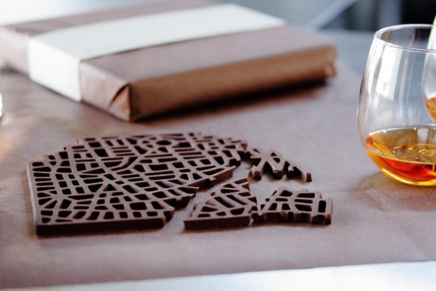 Le mappe delle città fatte di cioccolato