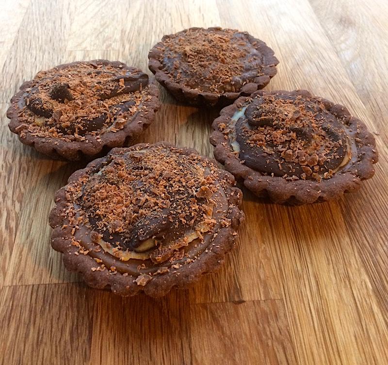 Crostatine al cioccolato e caramello: la ricetta per il tuo San Valentino