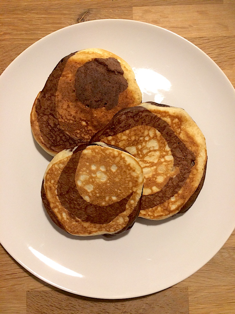 Ricetta Pancake zebrati al cacao
