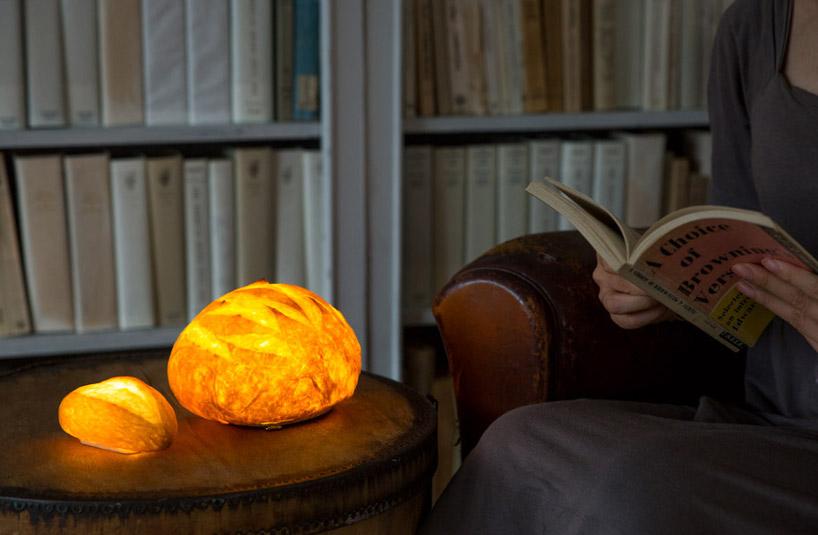 Le lampade fatte col pane