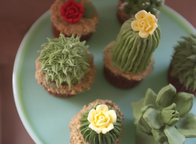 I cupcake a forma di cactus