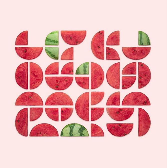 Cibo e geometria: le opere di Kristen Meyer