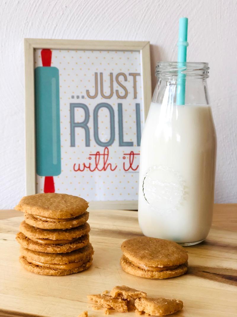 Sandwich di biscotti al burro di arachidi dolci pattìni