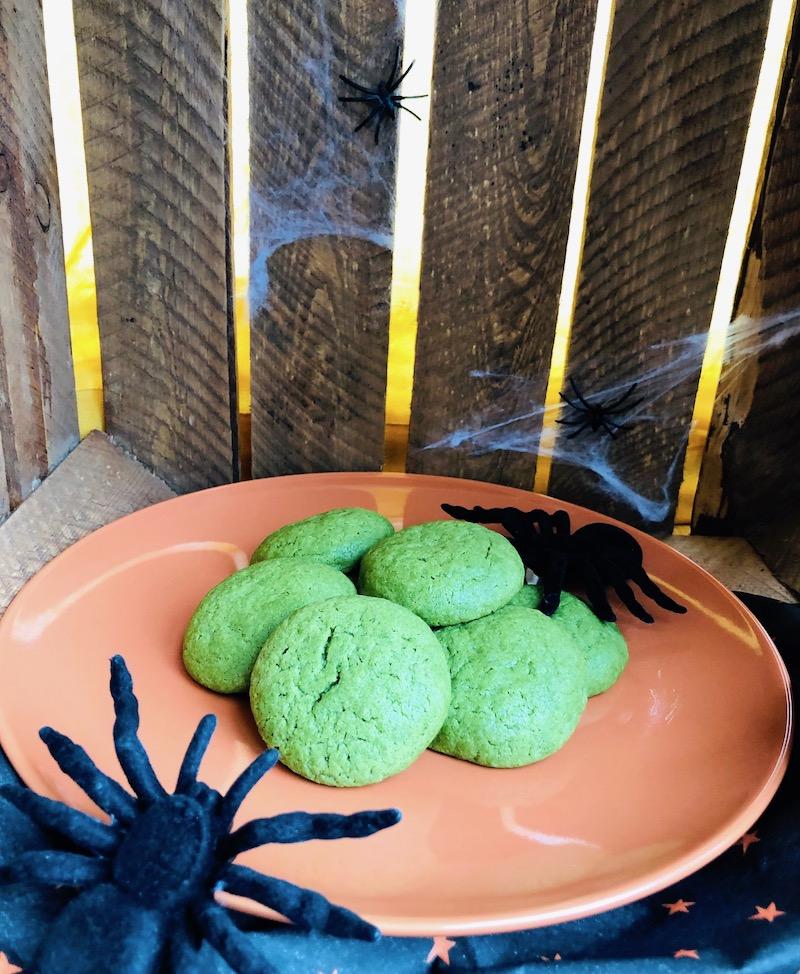 Biscotti al tè matcha di Halloween