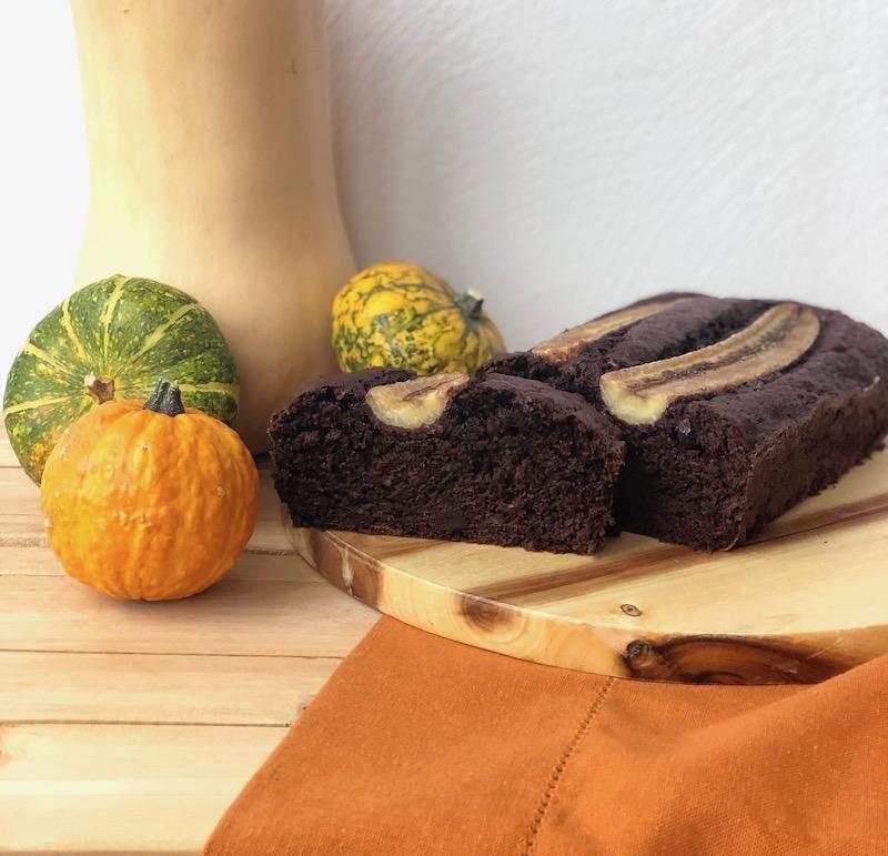 merenda dell'autunno banana bread al cioccolato