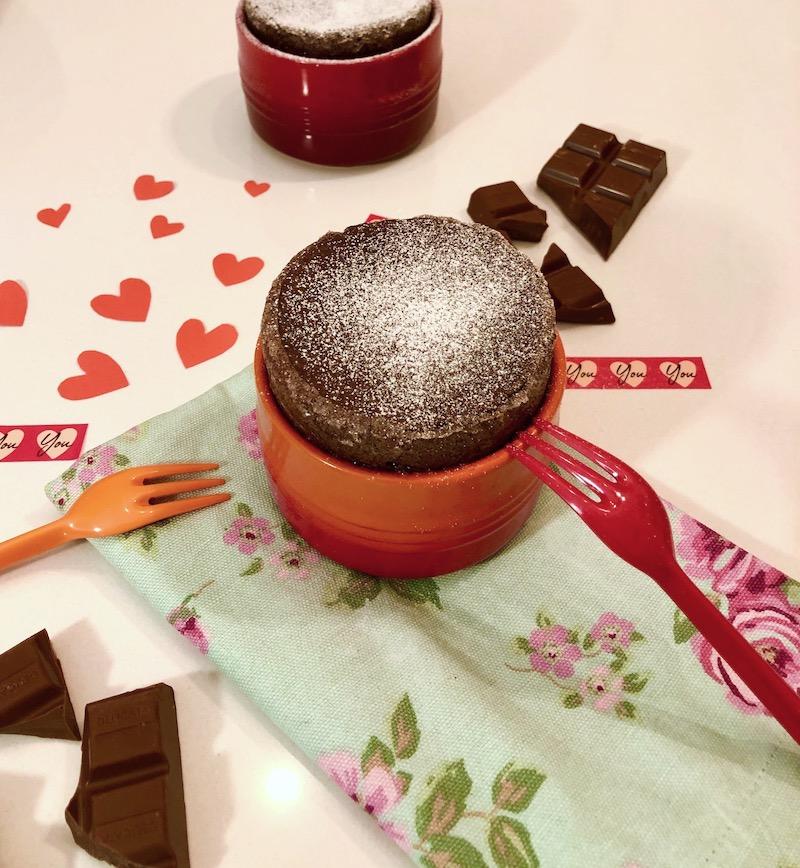 Soufflé al cioccolato per San Valentino