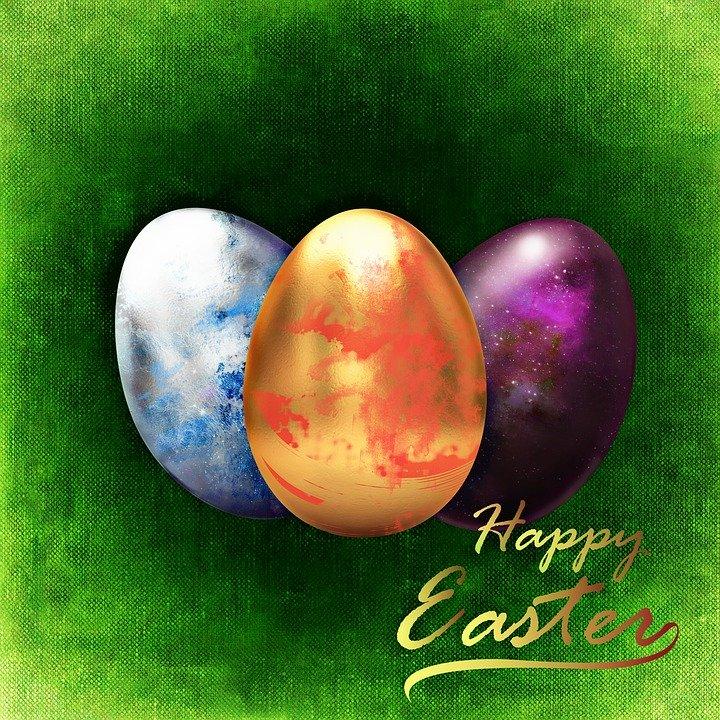 Le uova di Pasqua fatte di carta