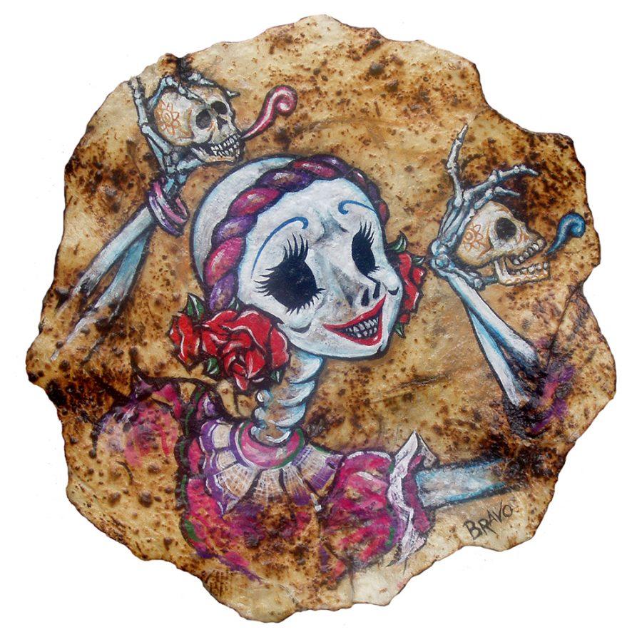 Tortilla art: la bellezza del Messico dipinta sulle tortilla