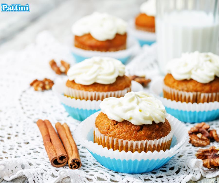 Cupcake alle carote e cannella: la ricetta delle mini torte di novembre