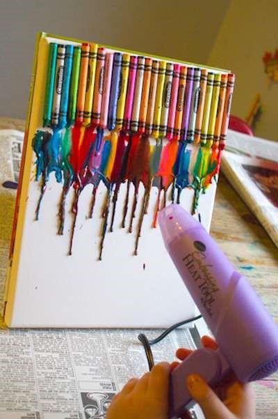 Riciclo creativo: alcune idee per utilizzare i pastelli a cera consumati