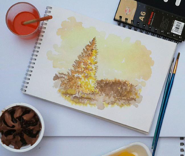 L'artista che dipinge col gelato
