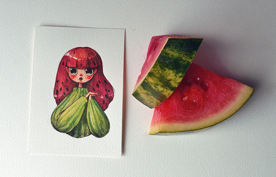 I personaggi di frutta di Marija Tiurina